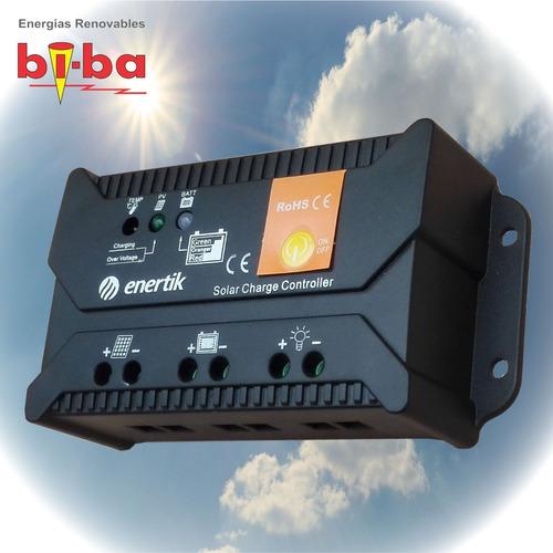 regulador de voltaje panel solar 12v/24v 10a enertik