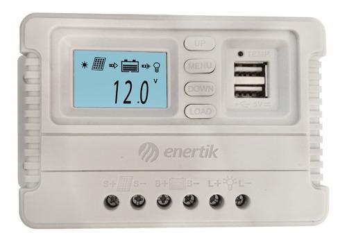 regulador de voltaje panel solar 12v/24v 50a usb - enertik