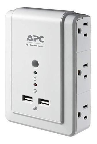 regulador de voltaje protector apc 6 tomas 2 usb p6wu2 xtc