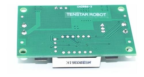 regulador de voltaje step down dc-dc lm2596 con voltimetro