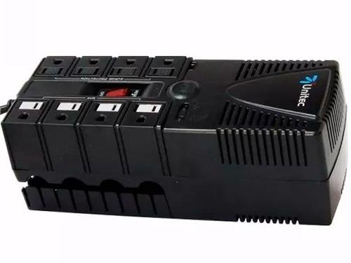 regulador de voltaje unitec u-1200 8 tomas supresor de picos