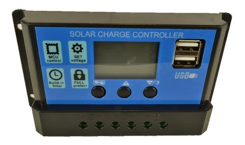 regulador panel solar 20a ltc electronics display lcd + usb