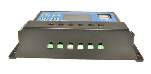 regulador panel solar 30a ltc electronics display lcd + usb