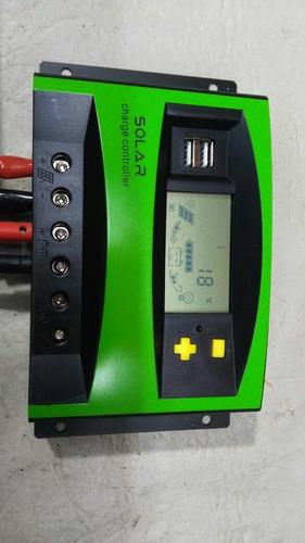 regulador panel solar controlador de carga 40a 12v 24v