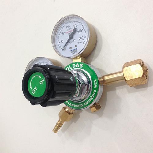 regulador para cilindro de oxigênio com 2 manômetros