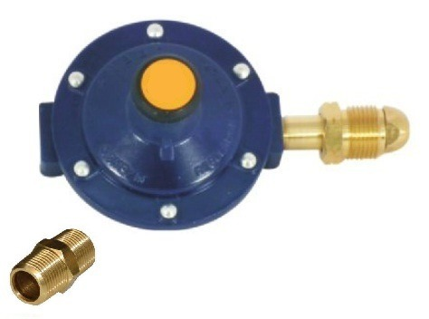 Regulador para gas con niple y punta pool en for Regulador de gas natural precio