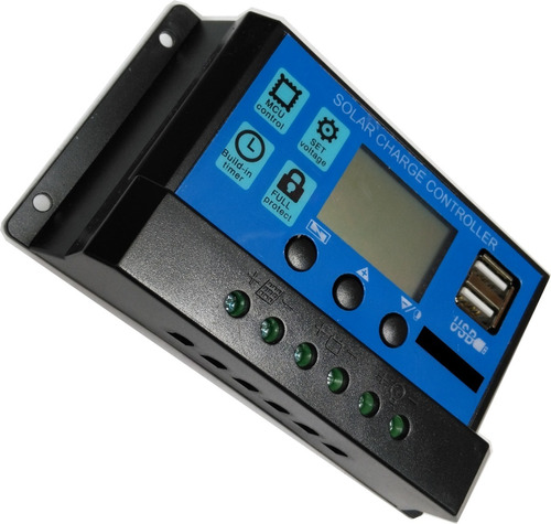regulador para panel solar 12v 24v 20a - electroimpulso