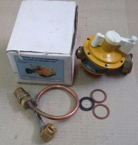 regulador paz gas natural 4 bar 6m3/h c/flexible y manguito