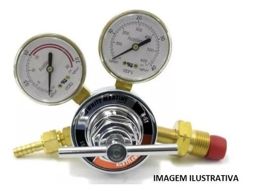 regulador pressão white martins r-51 acetileno wm 40123817