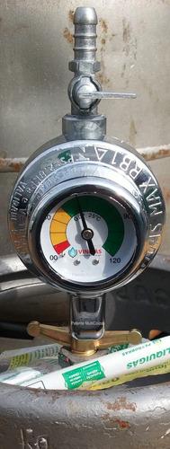 regulador - registro de gas glp vinigas c/ manômetro