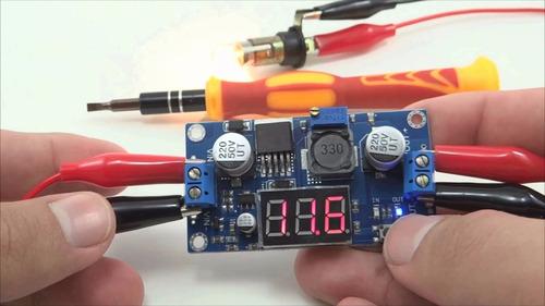 regulador tensão ajustável lm2596 step down dc dc + display
