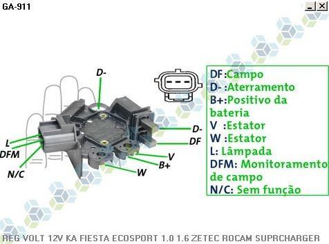 regulador voltagem gm corsa classic 1.0 13/... - gauss