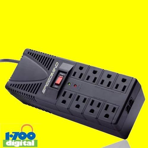 regulador voltaje 1200va 600w 8 tomas pc speed = cdp forza