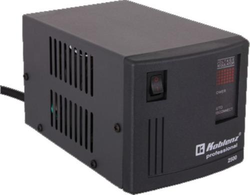 regulador voltaje koblenz 2500va 2000w 4 contactos fusible