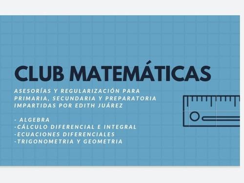 regularización de matemáticas  todos los niveles de estudio
