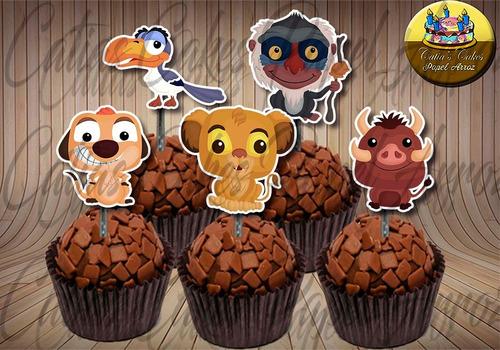 rei leão baby topper tags festa aniversário para doces