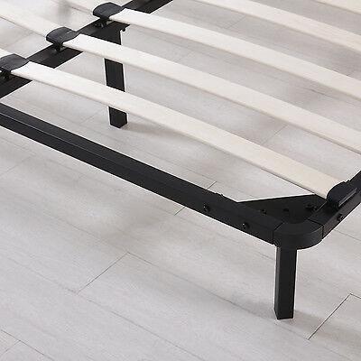 reina tamaño cama listones de madera marco metal plataf-8441