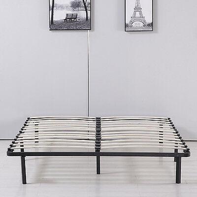 reina tamaño madera listón plataforma cama colchón fund-6338