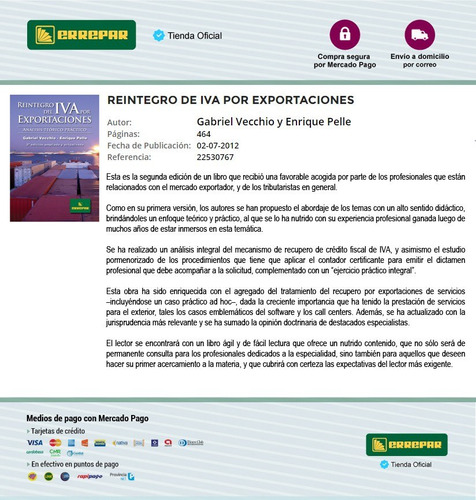 reintegro del iva por exportaciones - errepar