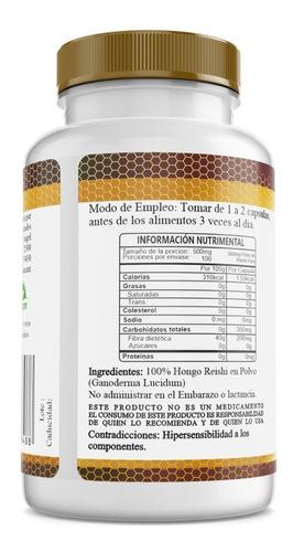 reishi ganoderma puro premium 100 capsulas 500mg