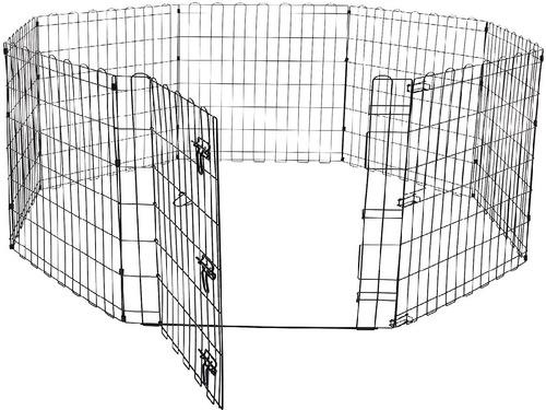 reja corral de metal  91 cm con puerta para mascotas perros