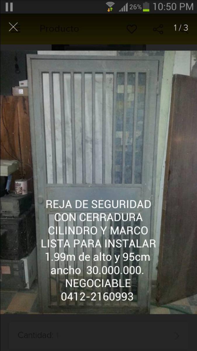 Reja De Seguridad - Bs. 80.000,00 en Mercado Libre