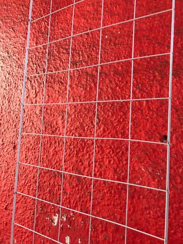 reja malla para exhibir de alambre color blanca 50cmx2.00m