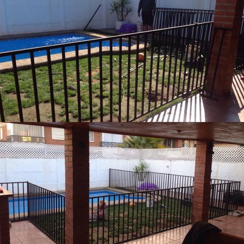 reja protección piscina
