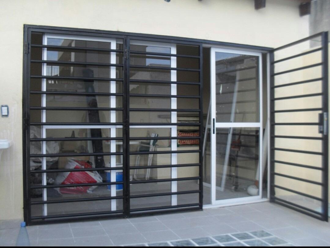 Reja puerta balcon ca o hierro cuadrado Puertas corredizas hierro