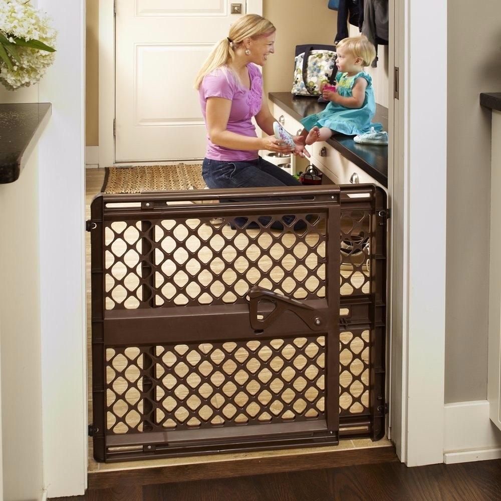 Reja puerta de seguridad para bebe o mascota ancha 106 cm 1 en mercado libre - Seguro para puertas bebe ...