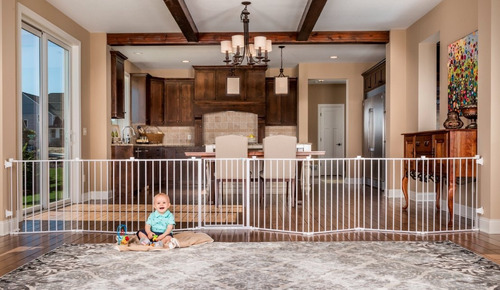 reja puerta seguridad para bebe expandible infantil 192 inch