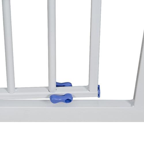 reja seguridad bebeglo protección escaleras cuarto bebe azul