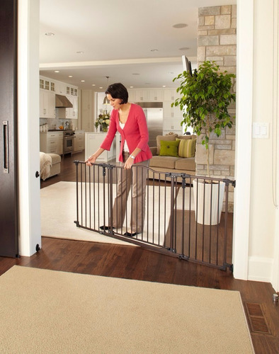 Reja seguridad ni os bloqueo metal puerta escalera for Puertas seguridad ninos