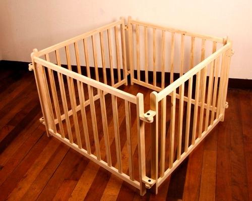 rejas para armar corral desmontable 100% madera diseño autor