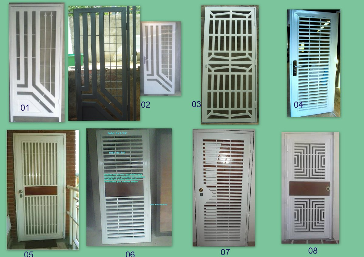 Rejas principales para casa o apartamento bs for Modelos puertas metalicas para casas