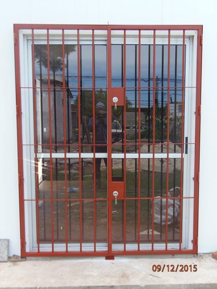 Rejas puertas portones herreria aluminio mamparas y for Rejas y portones