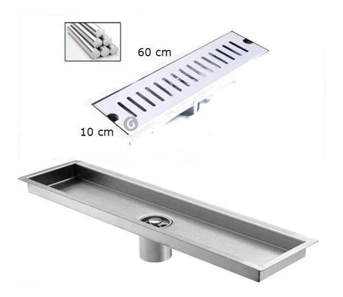 rejilla acero rectangular 60cm x 10cm para piso zona común