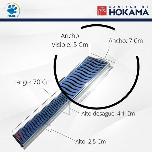 rejilla box ducha baño desague lineal cromo 70 cm casa larga