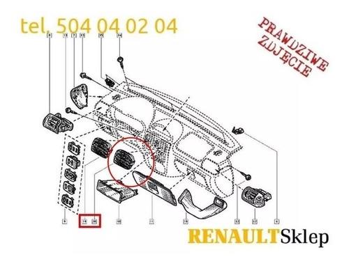 rejilla central derech. a/a renault symbol clio original
