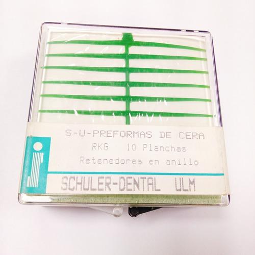rejilla de cera dental para cromo schuler rkg