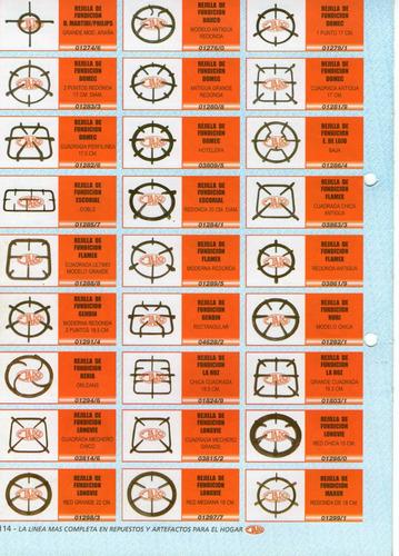 rejilla de fundicion maxor art.01299/1 redonda de 18cm