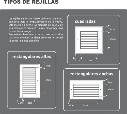 rejilla de ventilacion 10x40 - chapa pintada - interpolar