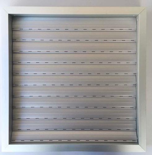 rejilla de ventilación, abre con la presión de aire