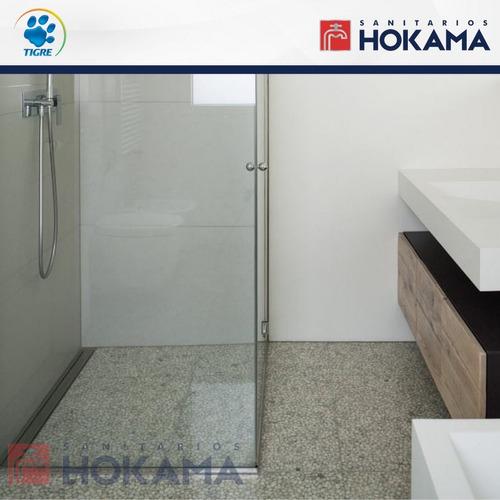 rejilla desague linea ducha 90 cm tigre acero ciego baño