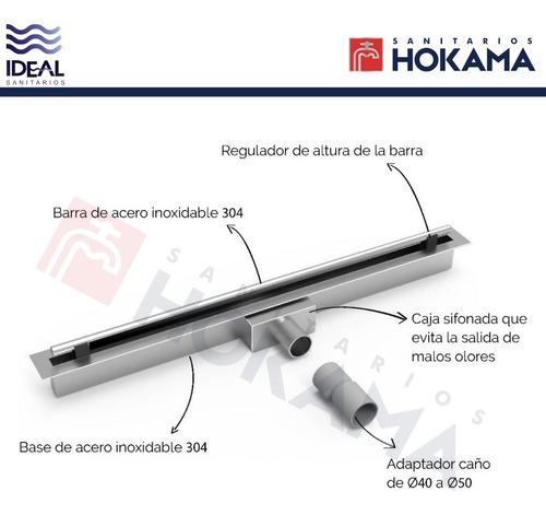 rejilla ducha delgado invisible ideal baño lineal acero 70cm