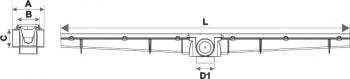 rejilla lineal 90 cm pvc blanco tigre desagüe moderno