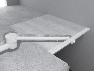 rejilla lineal tigre pvc blanca desague moderno 70cms