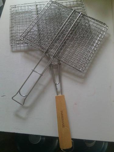 rejilla para asar pescado usada