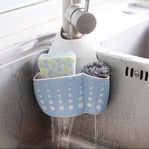 rejilla para jabón y esponja ajustable fregadero cocina baño