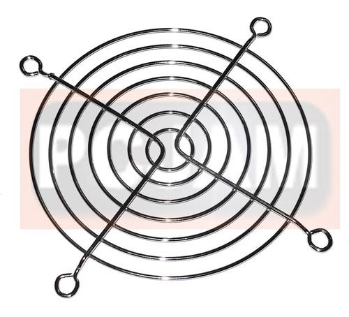rejilla para ventilador de 10x10 cm, cromada